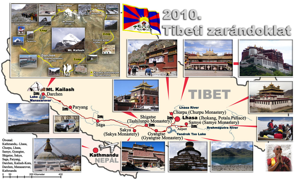 tibet kaliash map